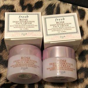 Fresh Rose Deep Hydration face cream set x2